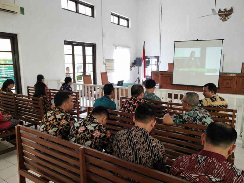 Siaran Langsung Peluncuran Integrasi Manajemen Sumber Daya Manusia Berbasis Kompetensi Ke Dalam Aplikasi Sistem Informasi Kepegawaian Mahkamah Agung Republik Indonesia