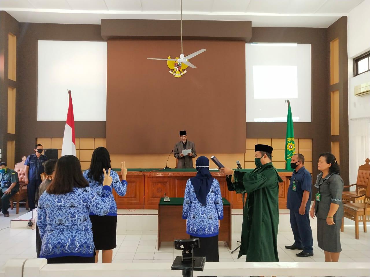 Pengambilan Sumpah dan Pelantikan PNS Pengadilan Negeri Tebing Tinggi