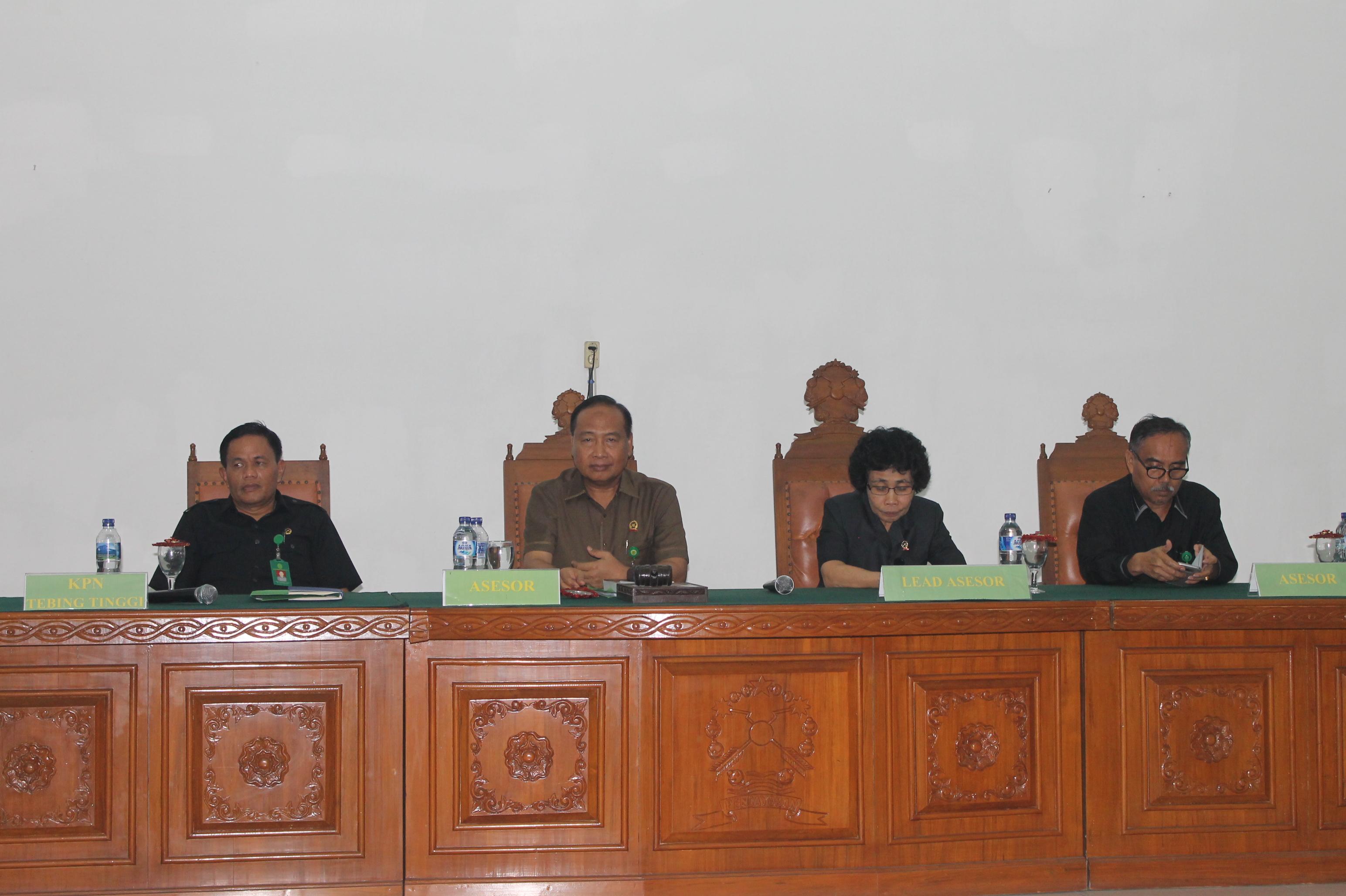 Pembinaan, Pengawasan dan Surveilan Akreditasi Penjaminan Mutu Oleh TAPM Pengadilan Tinggi Medan pada Pengadilan Negeri Tebing Tinggi