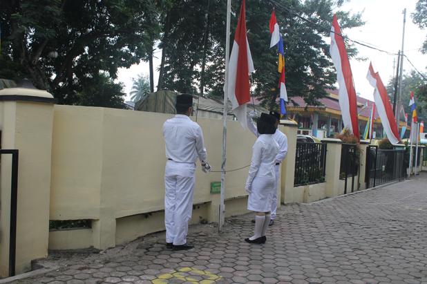 Upacara Kemerdekaan Indonesia ke-73 di Pengadilan Negeri Tebing Tinggi