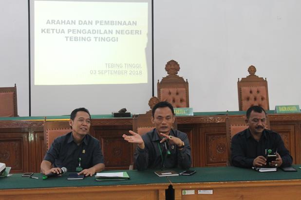 Arahan dan Pembinaan Ketua Pengadilan Negeri Tebing Tinggi