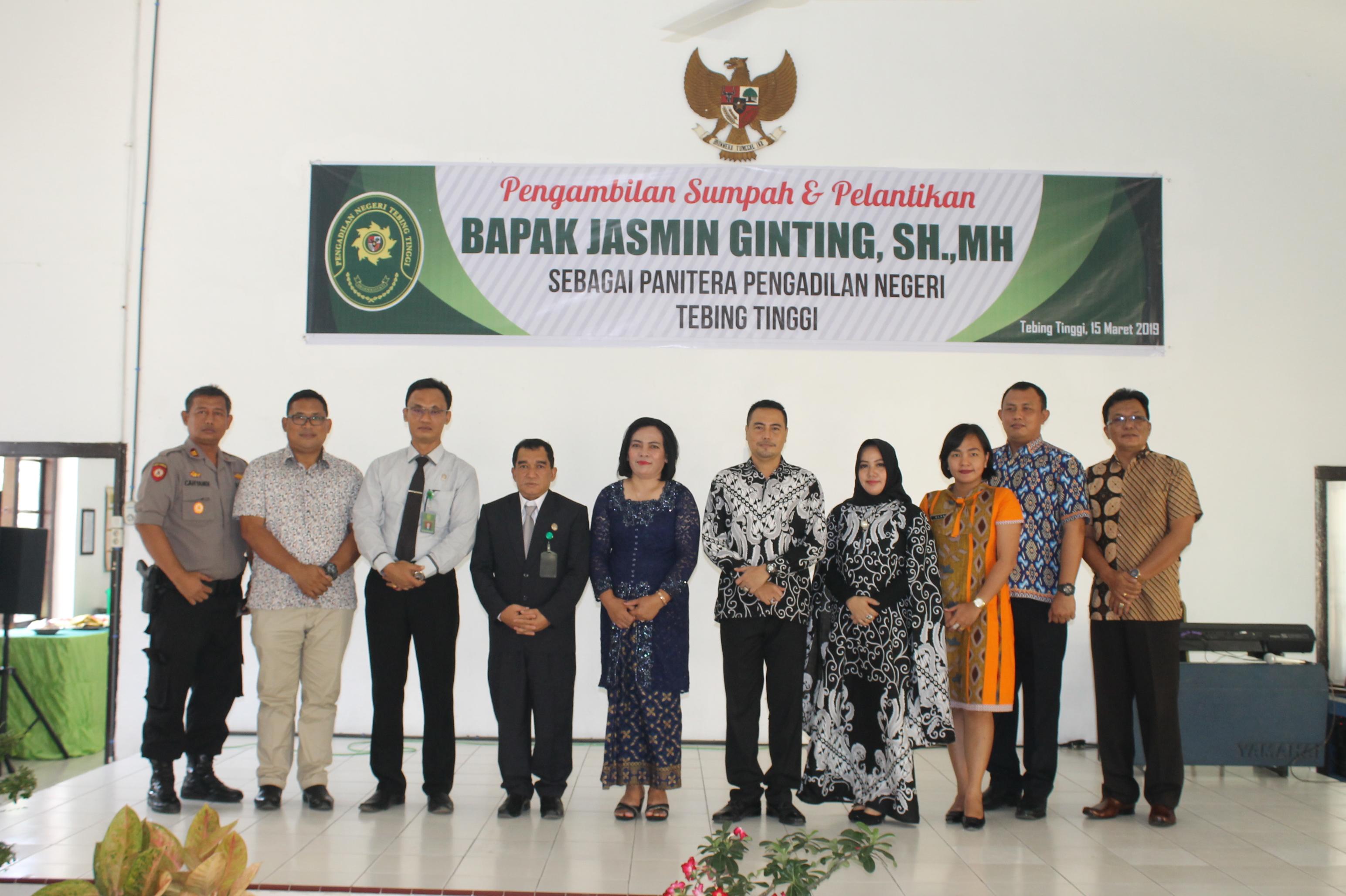 Pengambilan Sumpah dan Pelantikan Panitera Pengadilan Negeri Tebing Tinggi