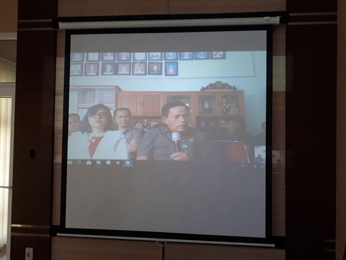 Teleconference Ketua Pengadilan Tinggi Medan & Hakim Tinggi Pengawas Daerah dengan Warga PN Tebing Tinggi