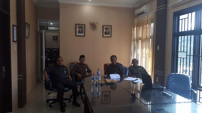 Teleconference Ketua Pengadilan Tinggi Medan dan Hakim Pengawas Daerah ke pengadilan negeri sewilayah hukum PT Medan