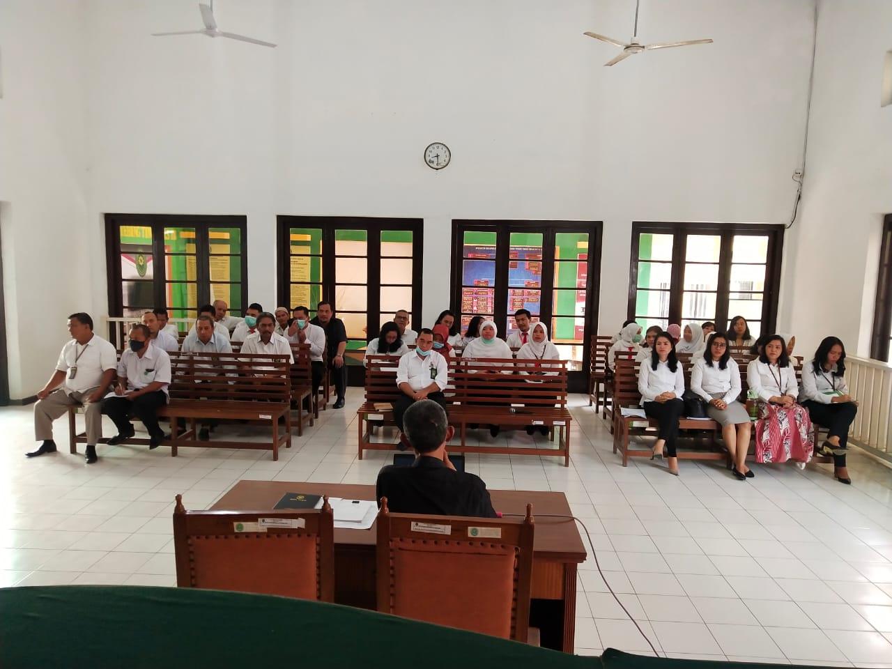 Rapat Tindak Lanjut Hasil Temuan Assesment TPI PT Medan dan Hasil Pengawasan Rutin HAWASTI PT Medan