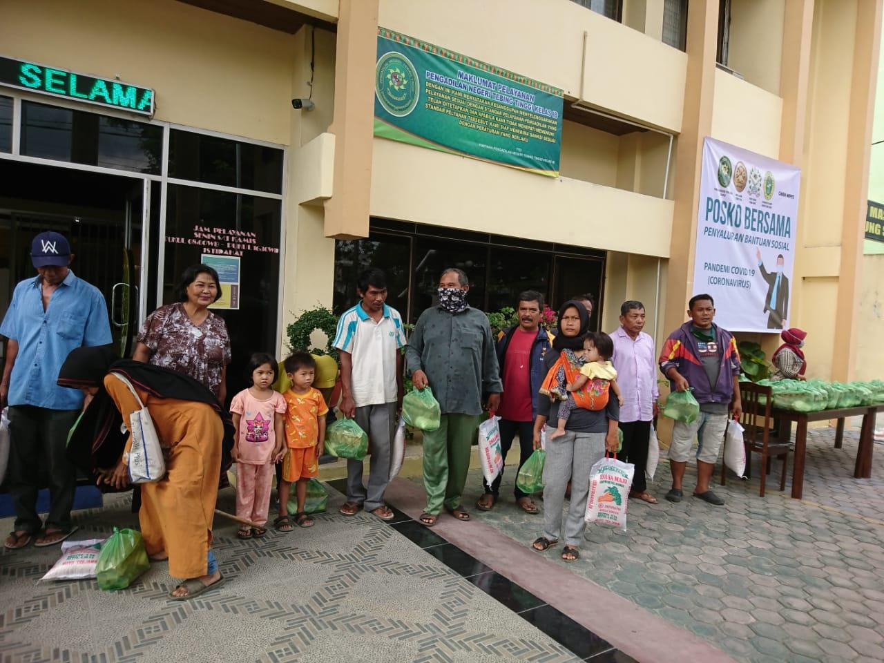 Penyaluran Bantuan Sosial  Pandemi Covid- 19 Pengadilan Negeri Tebing Tinggi