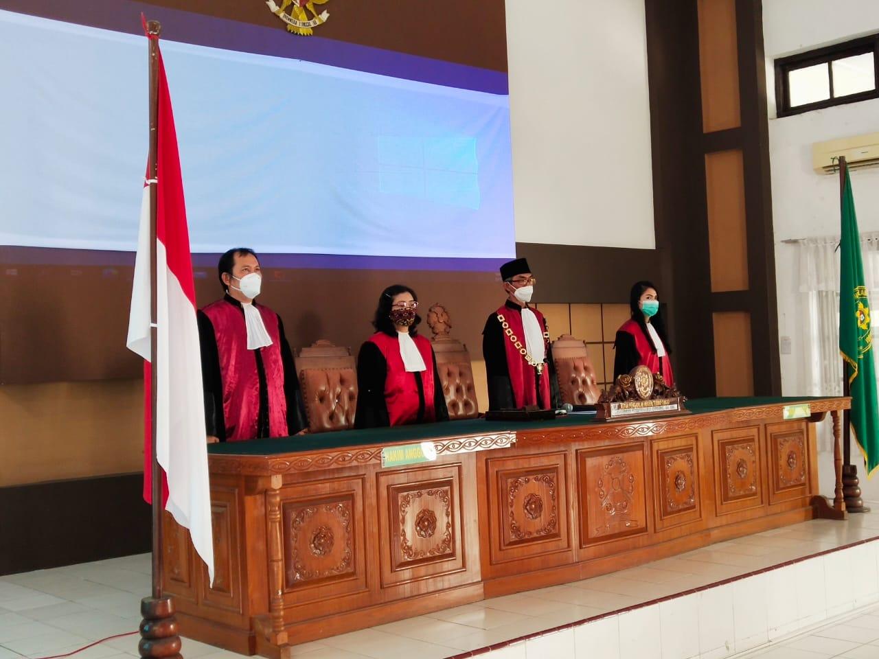 Sidang Luar Biasa Penyampaian Laporan Pelaksanaan Kegiatan Tahunanan Tahun 2020 Pengadilan Negeri Tebing Tinggi Kelas I B